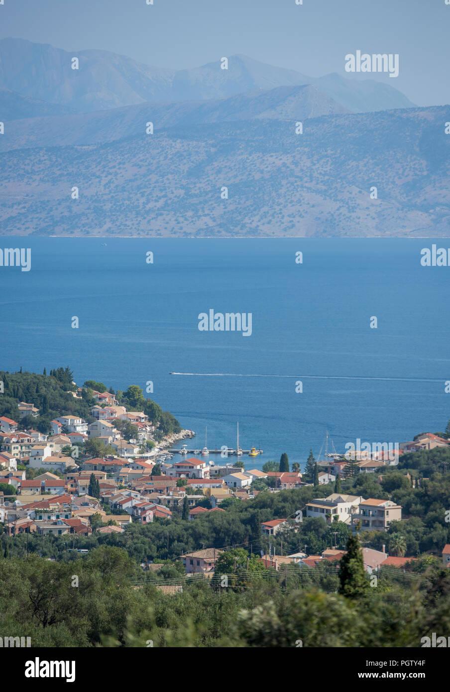 kassiopi, corfu, kerkyra, greece. - Stock Image