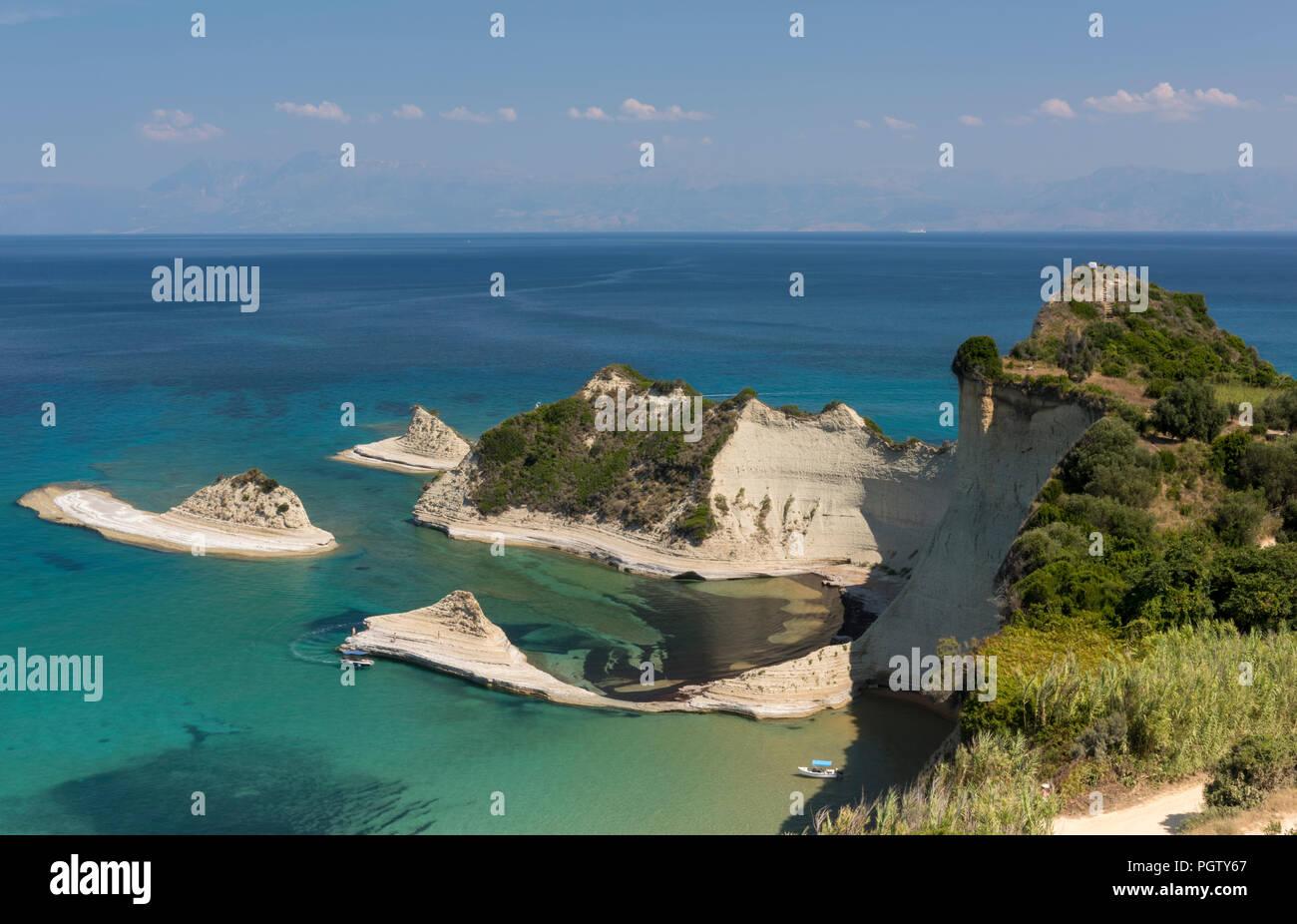 Cape Drastis, Corfu beach, Corfu, Greek islands, Greece. - Stock Image