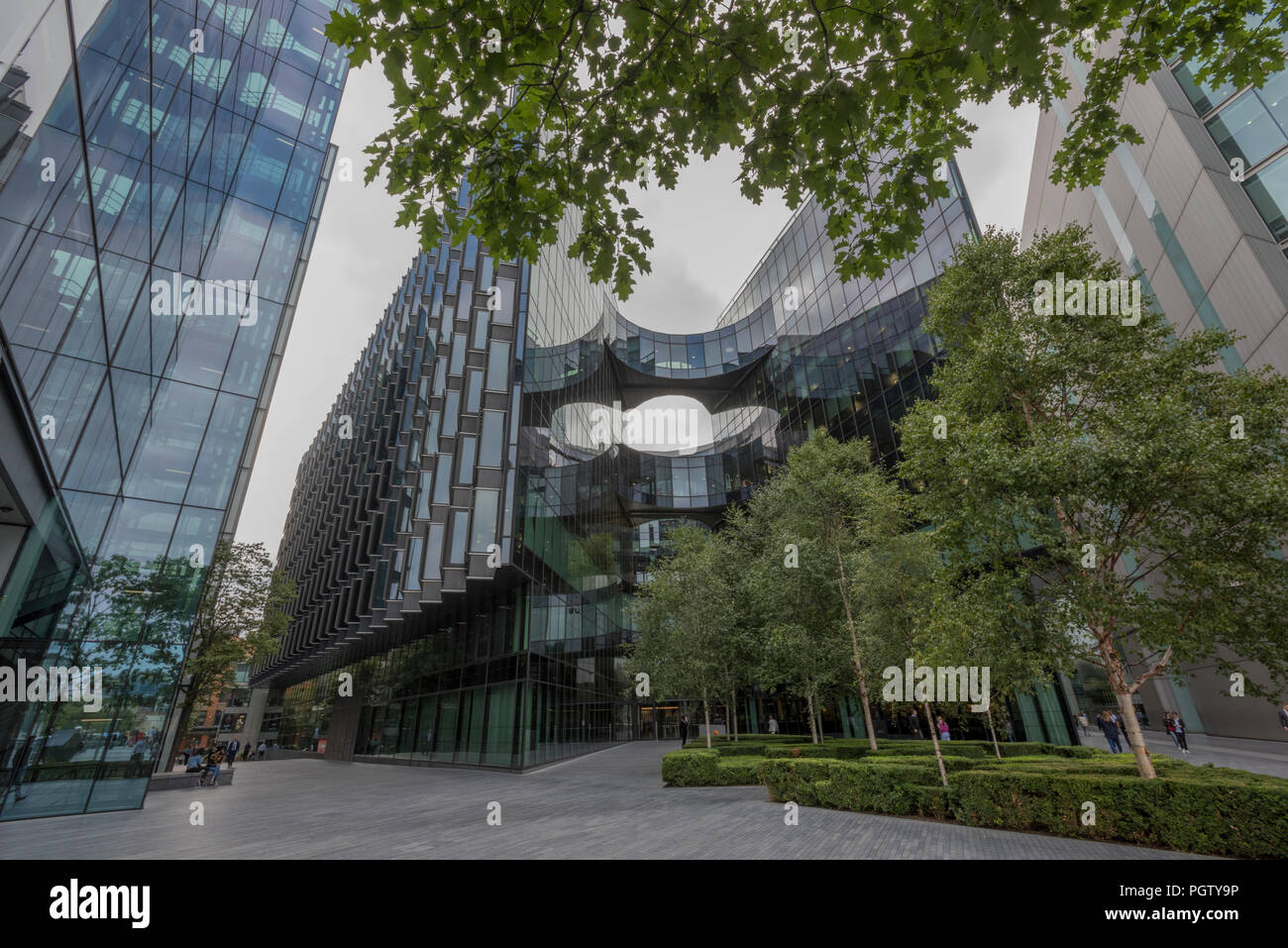modern offices and businesses based at more London place on the south bank of the river thames in the centre of the city of London, uk. - Stock Image