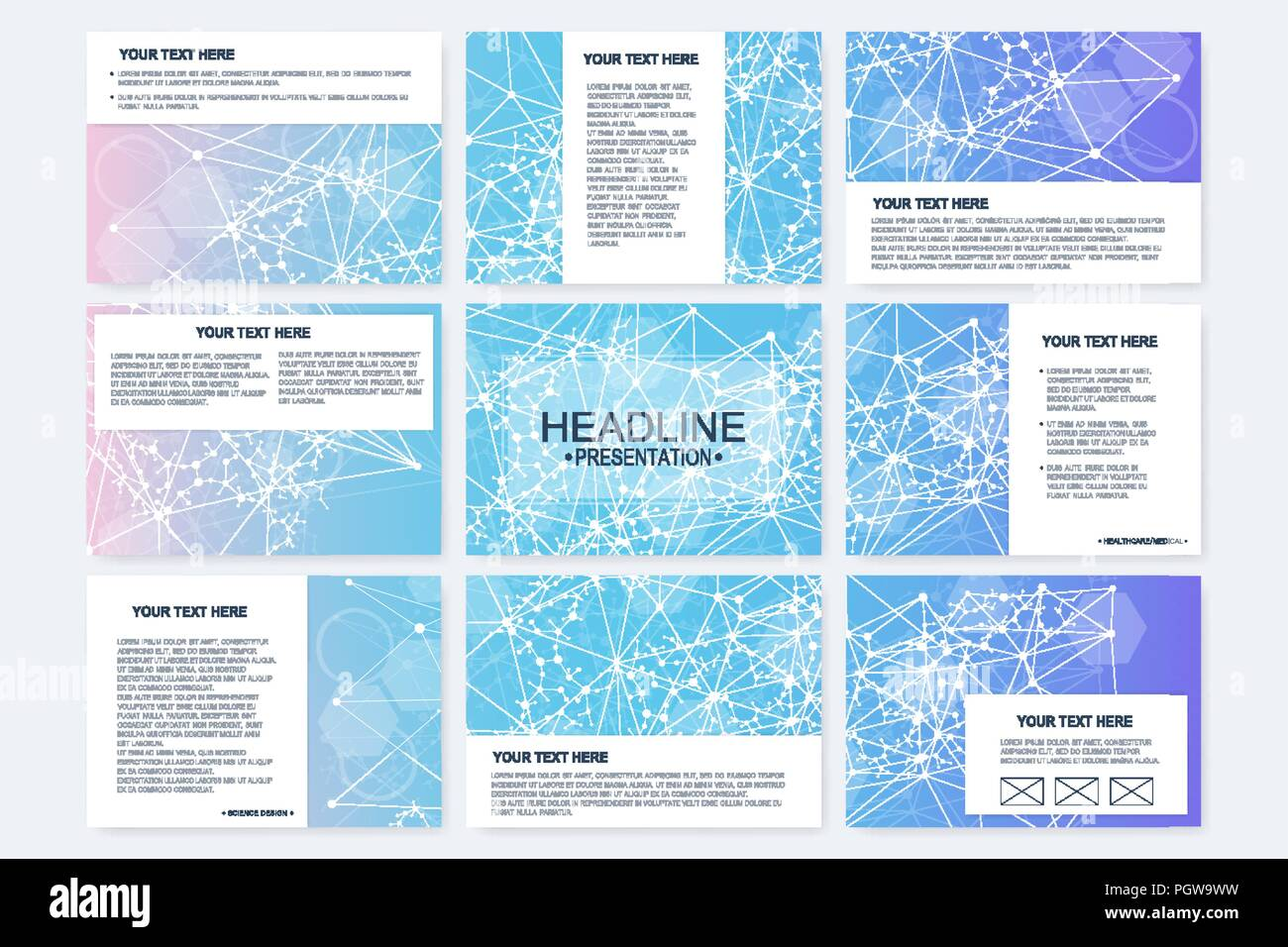 big set of vector templates for presentation slides modern graphic