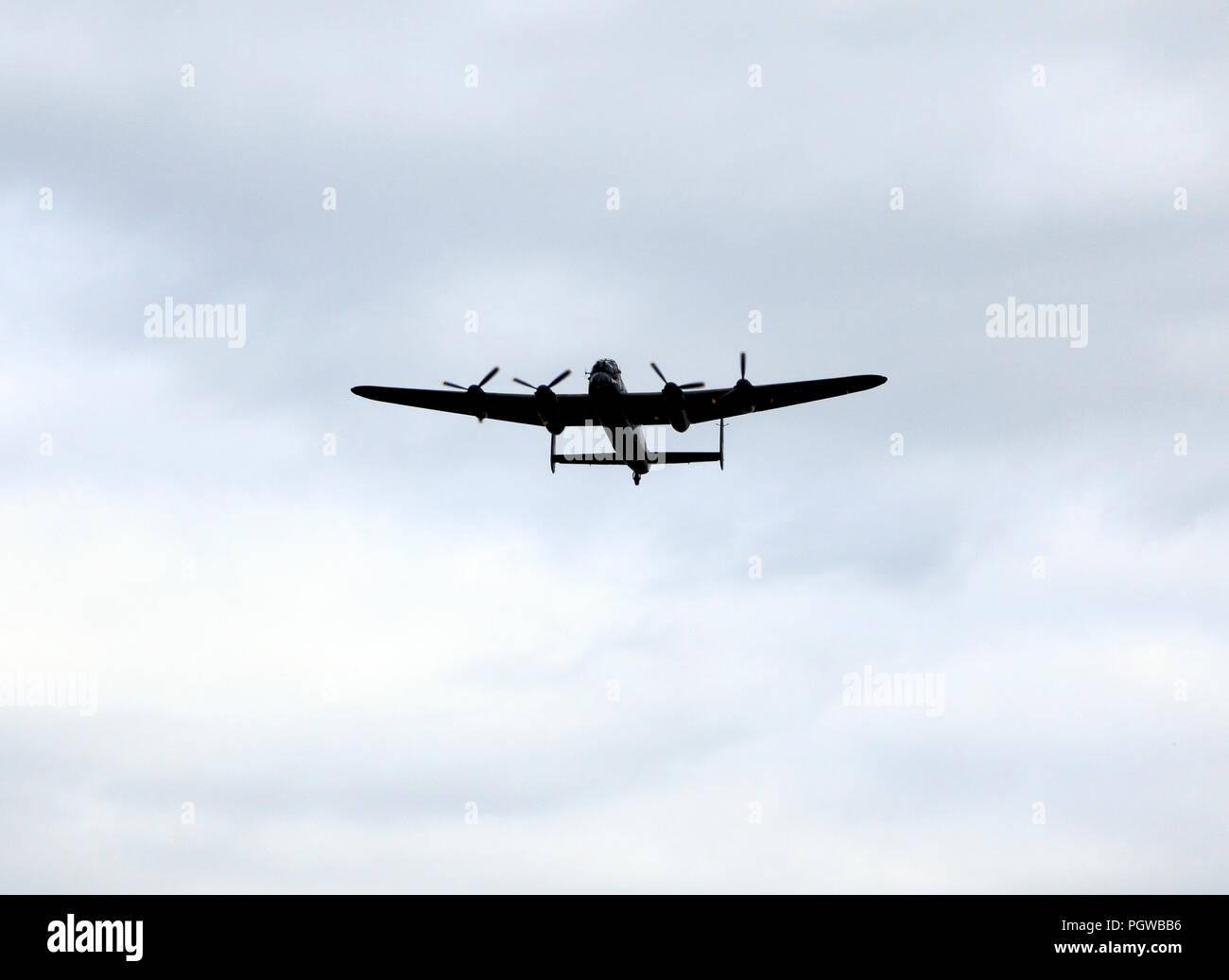 Lancaster Bomber, aeroplane, RAF, World War 2, bombing, built 1945 - Stock Image