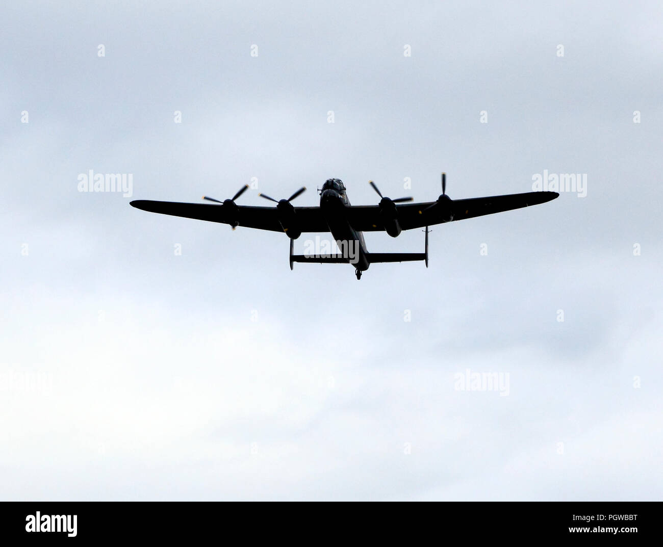 Lancaster Bomber, aeroplane, RAF, World War 2, bombing, built 1945 - Stock Image