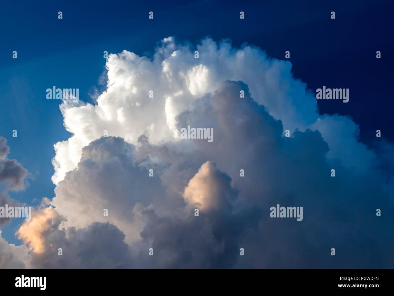 Dramatic sky with light rays Stock Photo