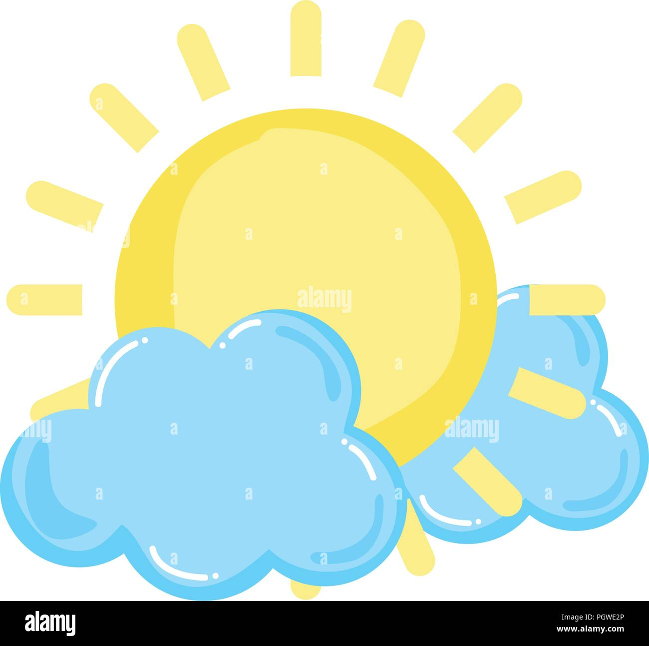 light sun spring weather with clouds - Stock Image