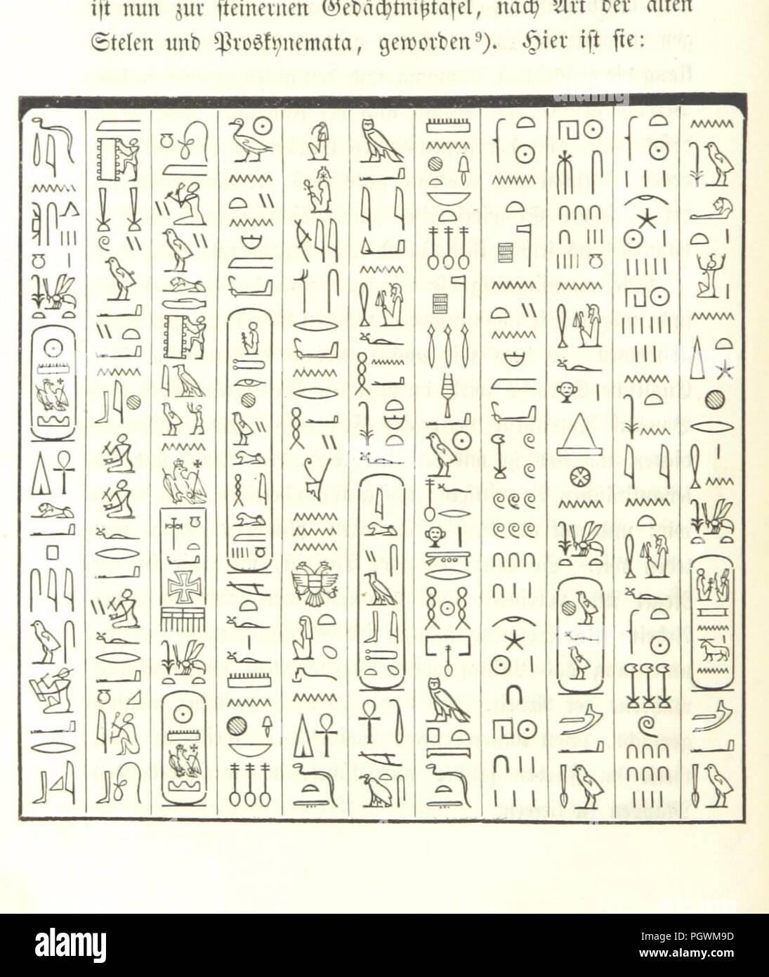 Image  from page 52 of 'Briefe aus Ægypten, Æthiopien, und der Halbinsel des Sinai, geschrieben in den Jahren 1842-1845, etc' . - Stock Image