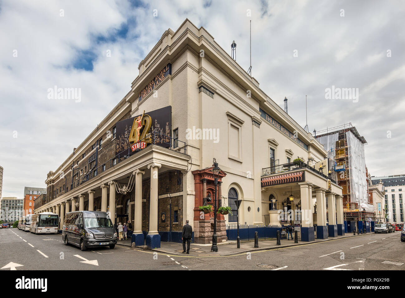 London, UK - May 23, 2017: Historic Theatre Royal Drury Lane at Covent Garden in London England, United Kingdom. - Stock Image