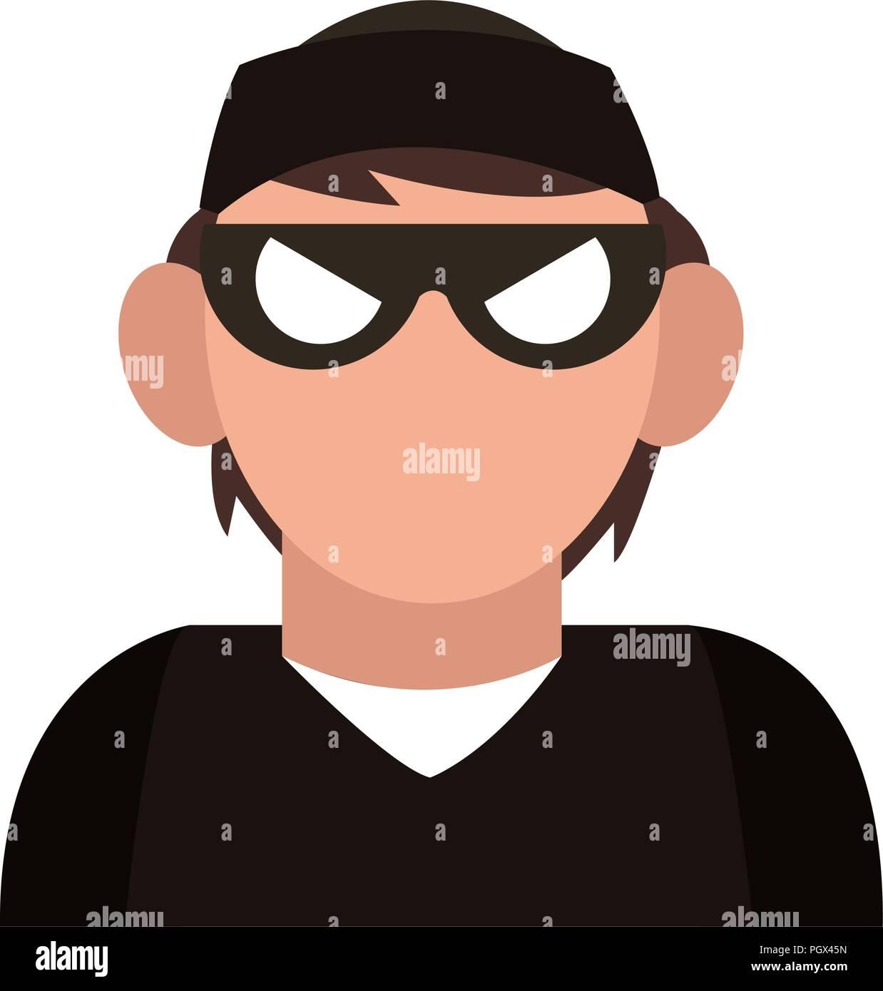 Thief avatar profile - Stock Vector