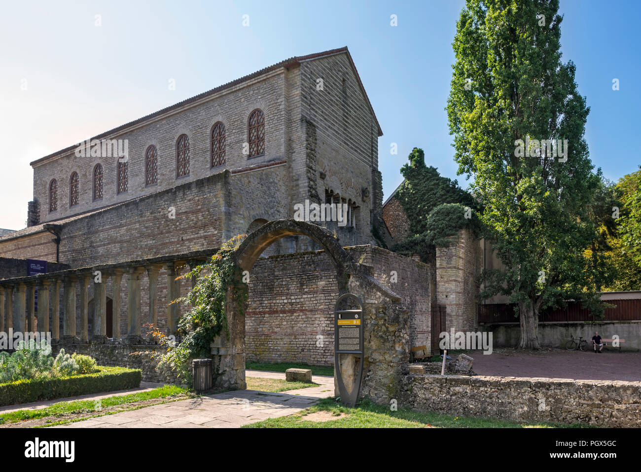 4th century basilica and former monastic church of Saint-Pierre-aux-Nonnains in the city Metz, Moselle, Lorraine, France - Stock Image