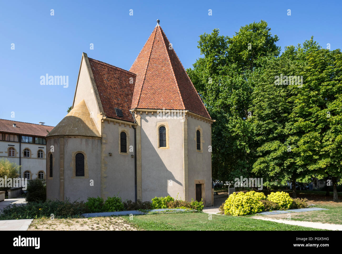 12th century Chapelle des Templiers / Templars' chapel in the city Metz, Moselle, Lorraine, France - Stock Image