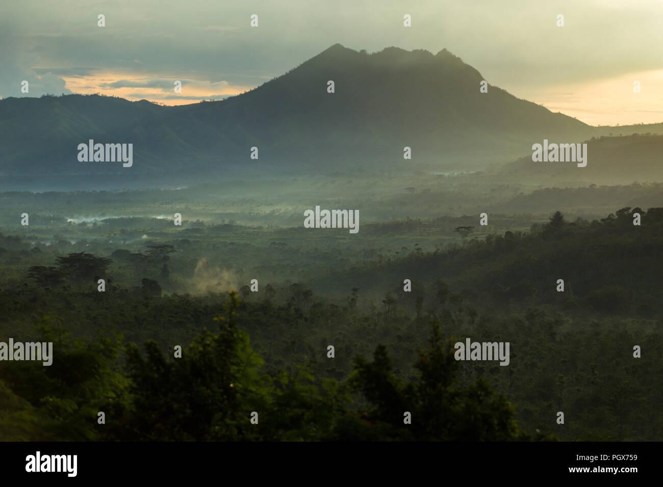 Ijen volcanoes, East Java, Indonesia - Stock Image