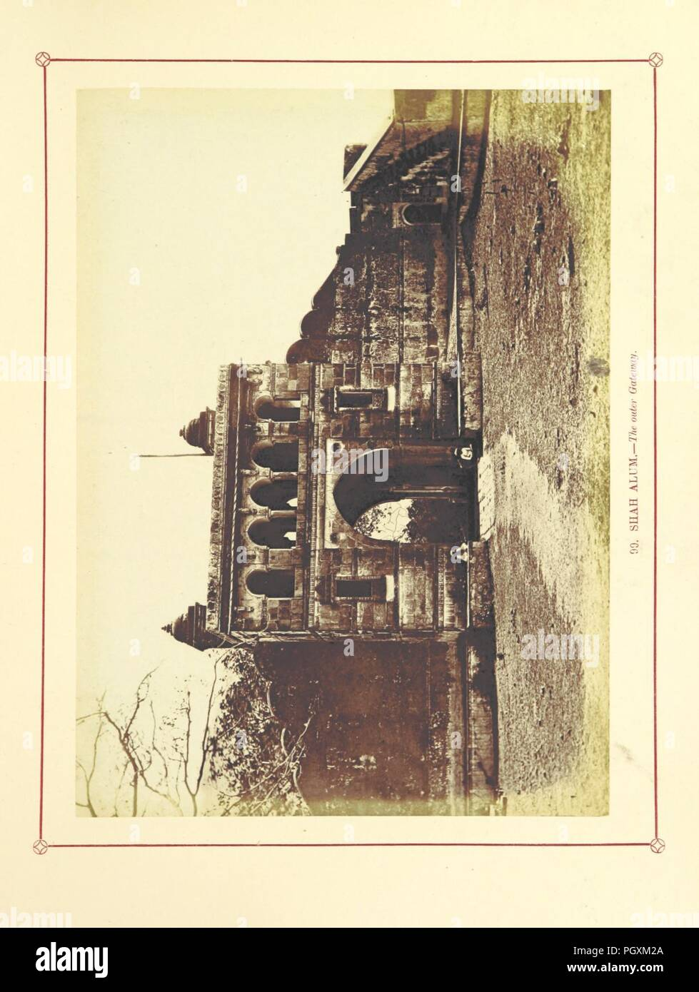 Image  from page 323 of 'Architecture at Ahmedabad, the Capital of Goozerat, photographed by Colonel Biggs, ... With an historical and descriptive sketch, by T. C. H., ... and architectural notes by J. Fergusson, etc' by The 0071. - Stock Image