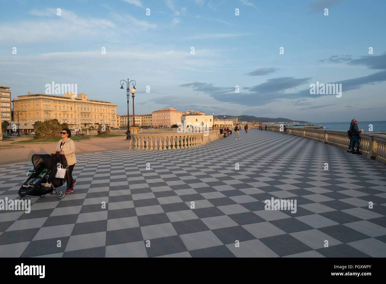 Terrazza Mascagni A Promenade And Park Area On The Seafront