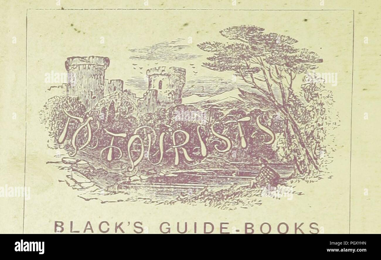 Image  from page 848 of 'Black's Road and Railway Guide to England and Wales. Fourteenth edition' . - Stock Image