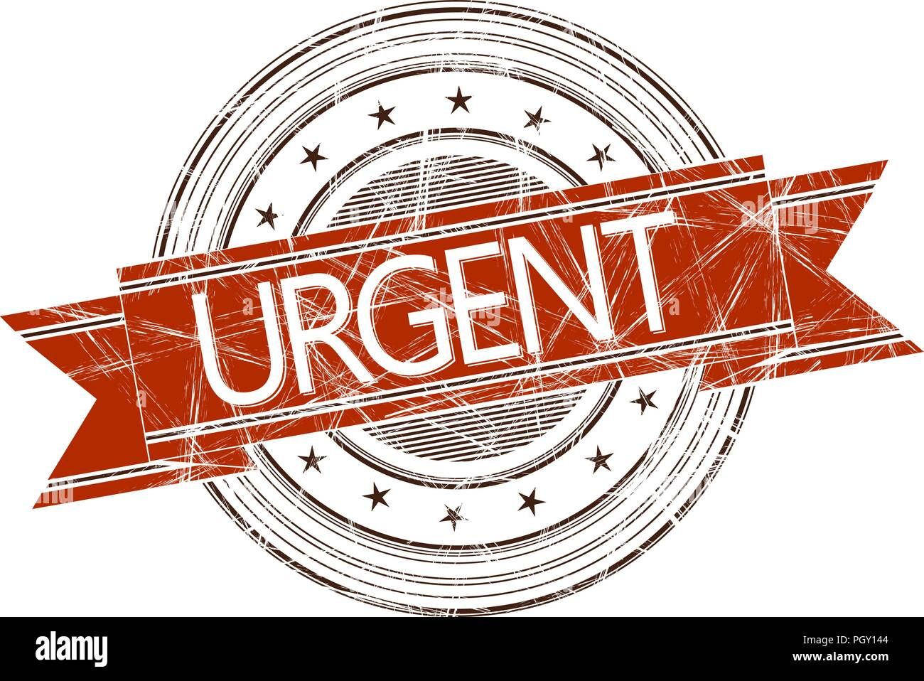 Urgent grunge rubber stamp on white - Stock Image
