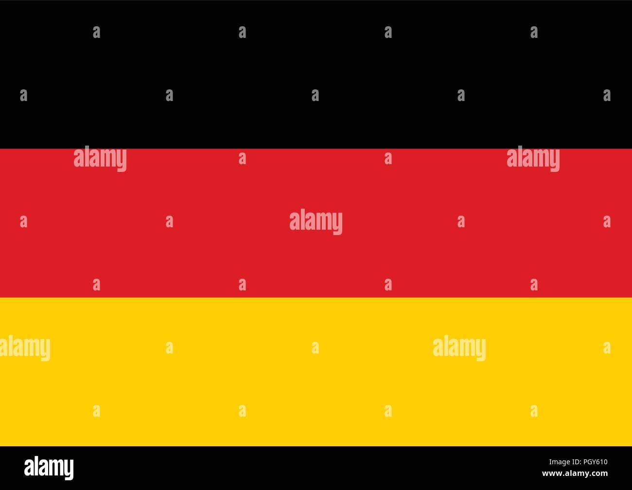 Germany flag vector illustration. Graphic design - Stock Vector