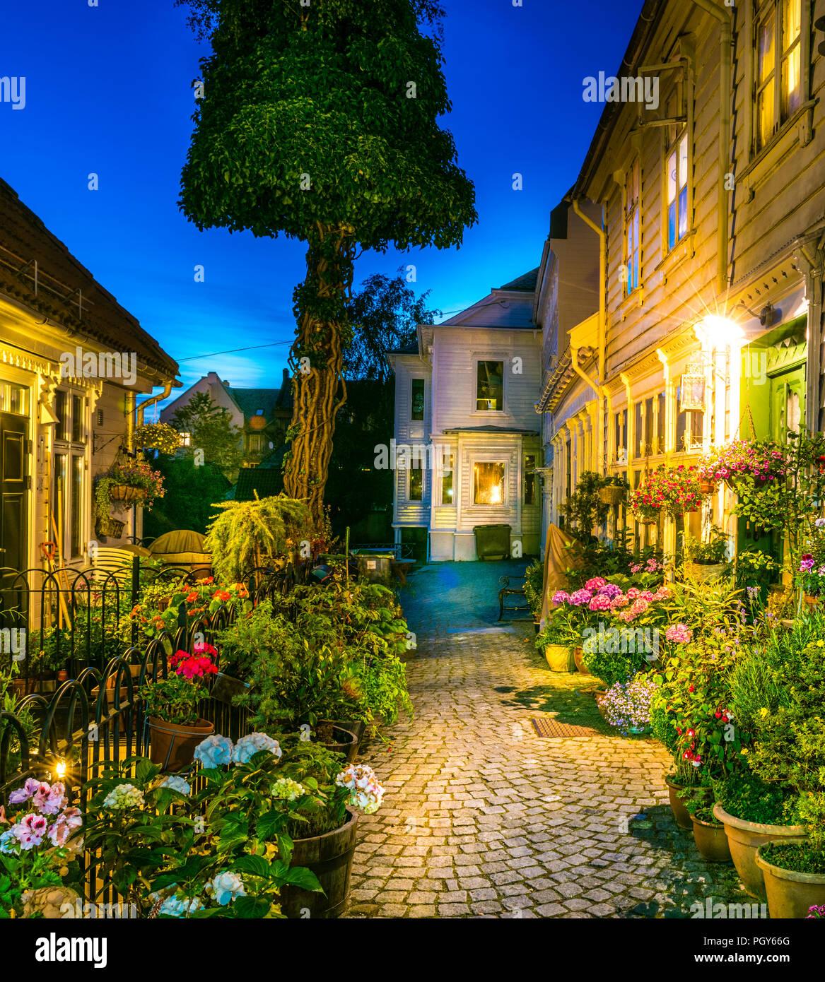 Krybbesmauet in Bergen, Western Norway - Stock Image