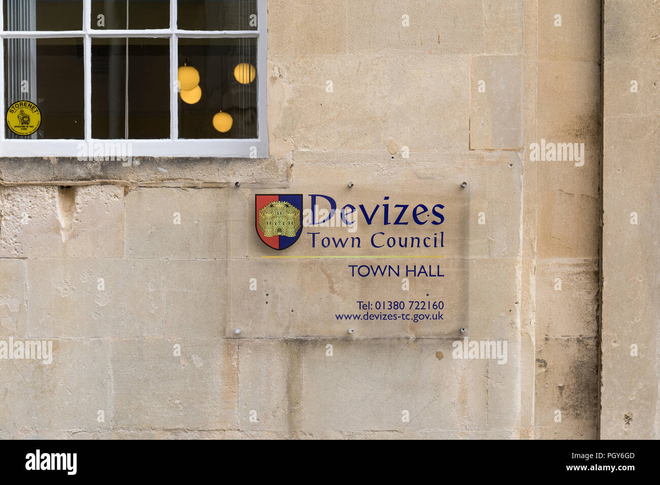 Devizes Town Council, Town Hall, St.John's Street, Devizes, Wiltshire, UK - Stock Image