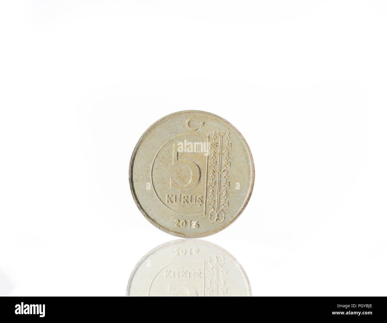 5 Turkish kurus Stock Photo