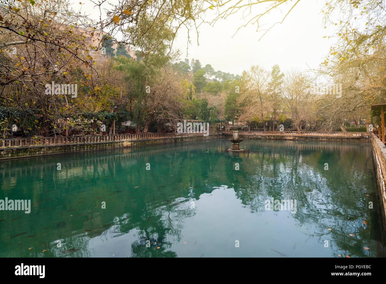Lake Ayn Zeliha - Sanliurfa city - Turkey - Stock Image