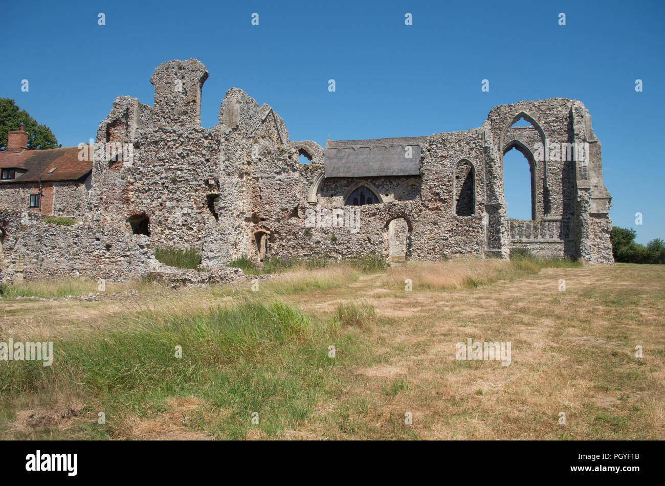 Leiston Abbey Ruin Suffolk - Stock Image