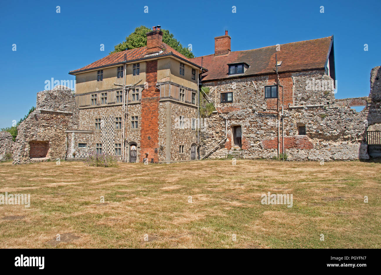 Leiston Abbey Suffolk - Stock Image