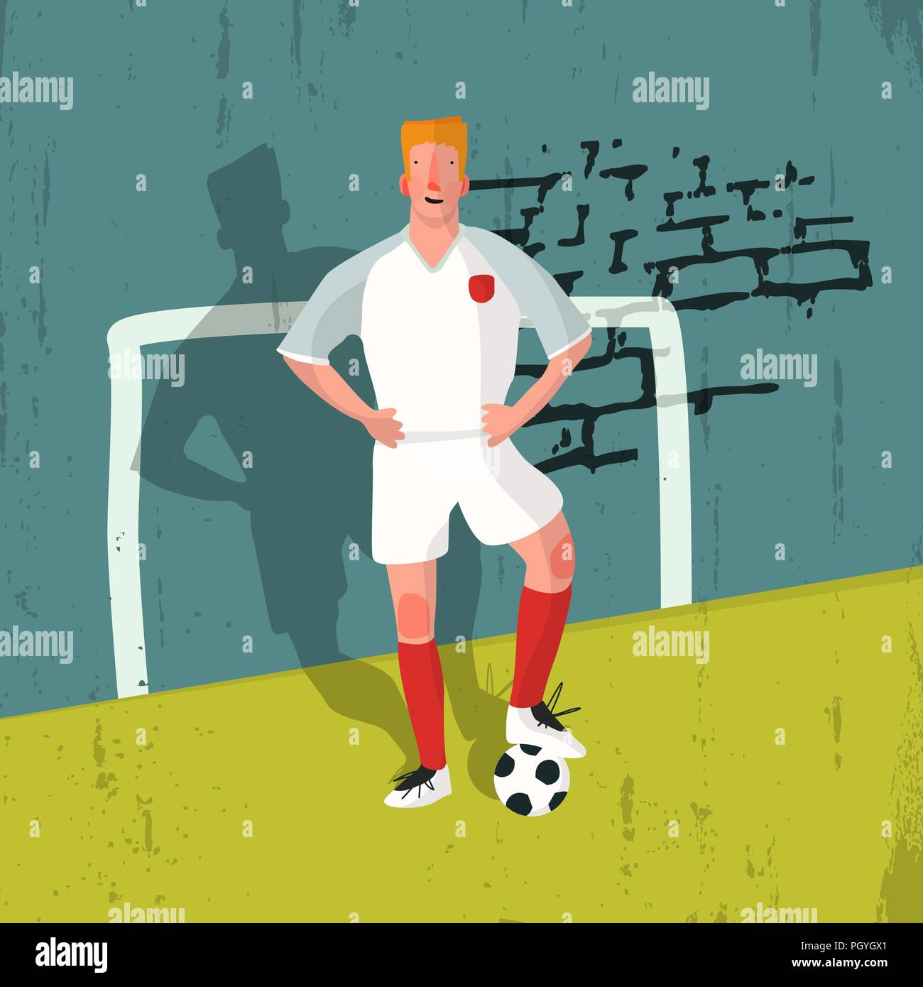 Illustration of a football player Stock Vector