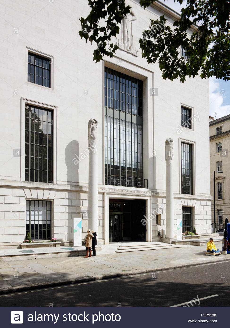 Royal Institute of British Architects building at 66 Portland Place: London. - Stock Image