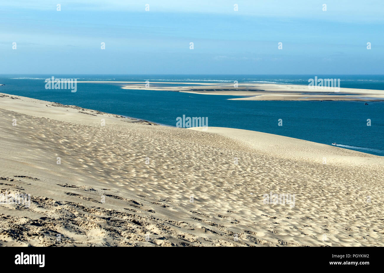 France Arcachon Bay Gironde 33 Banc Darguin View From The