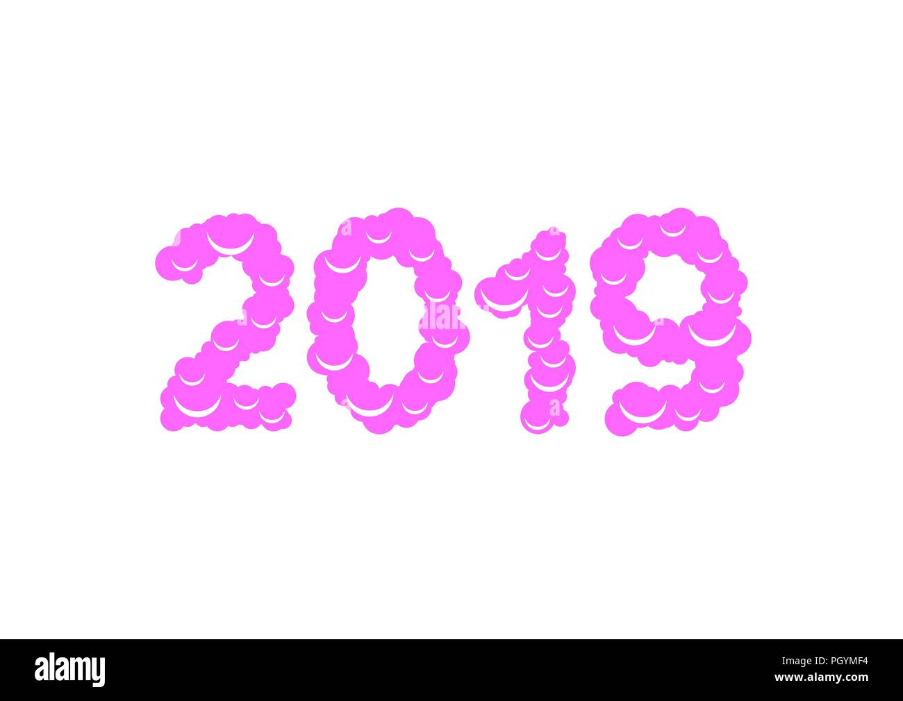 2019 sweet numbers happy new year and merry christmas