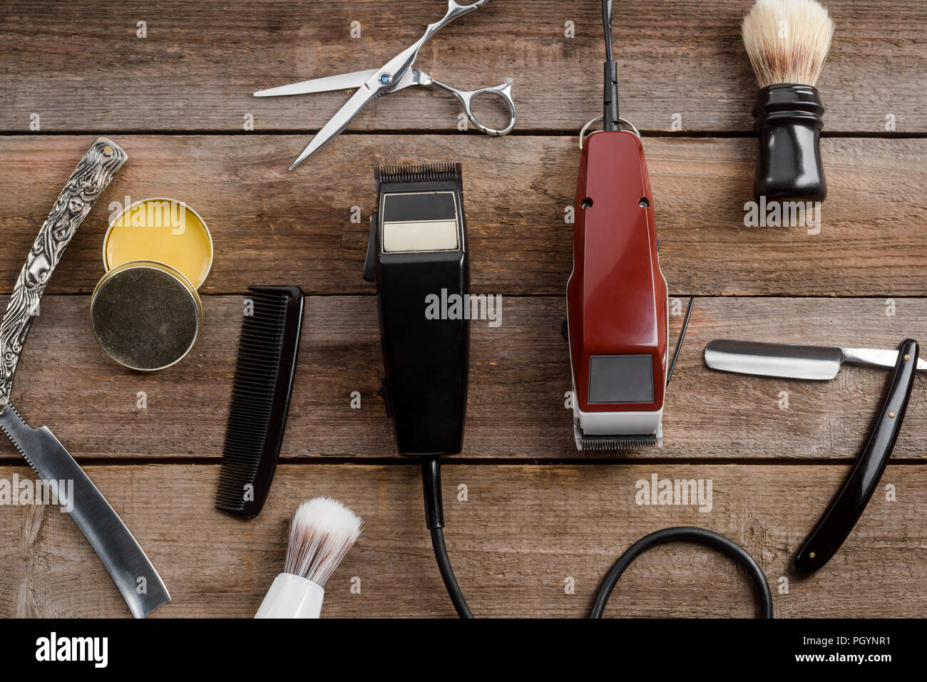 Electric hair trimmers and wax - Stock Image