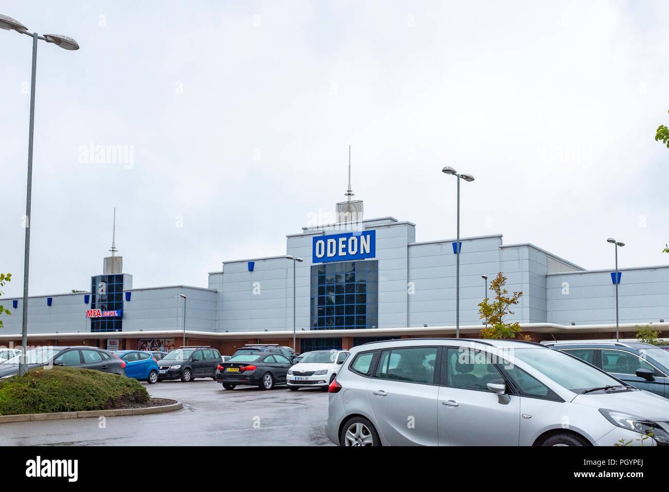 Odeon cinema and MFA Bowl in Crewe Cheshire UK - Stock Image