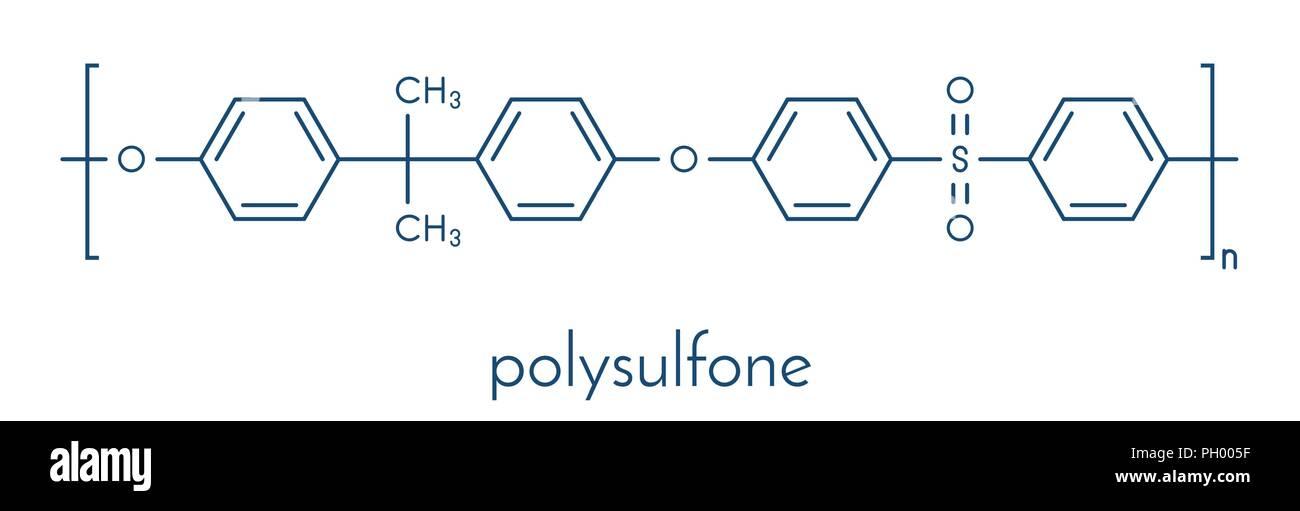 Polysulfone, basic chemical structure. Skeletal formula Stock Vector ...
