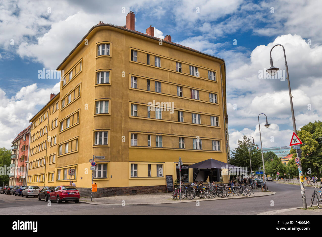 Art Deco House Near Volksbuhne Berlin Germany Stock Photo