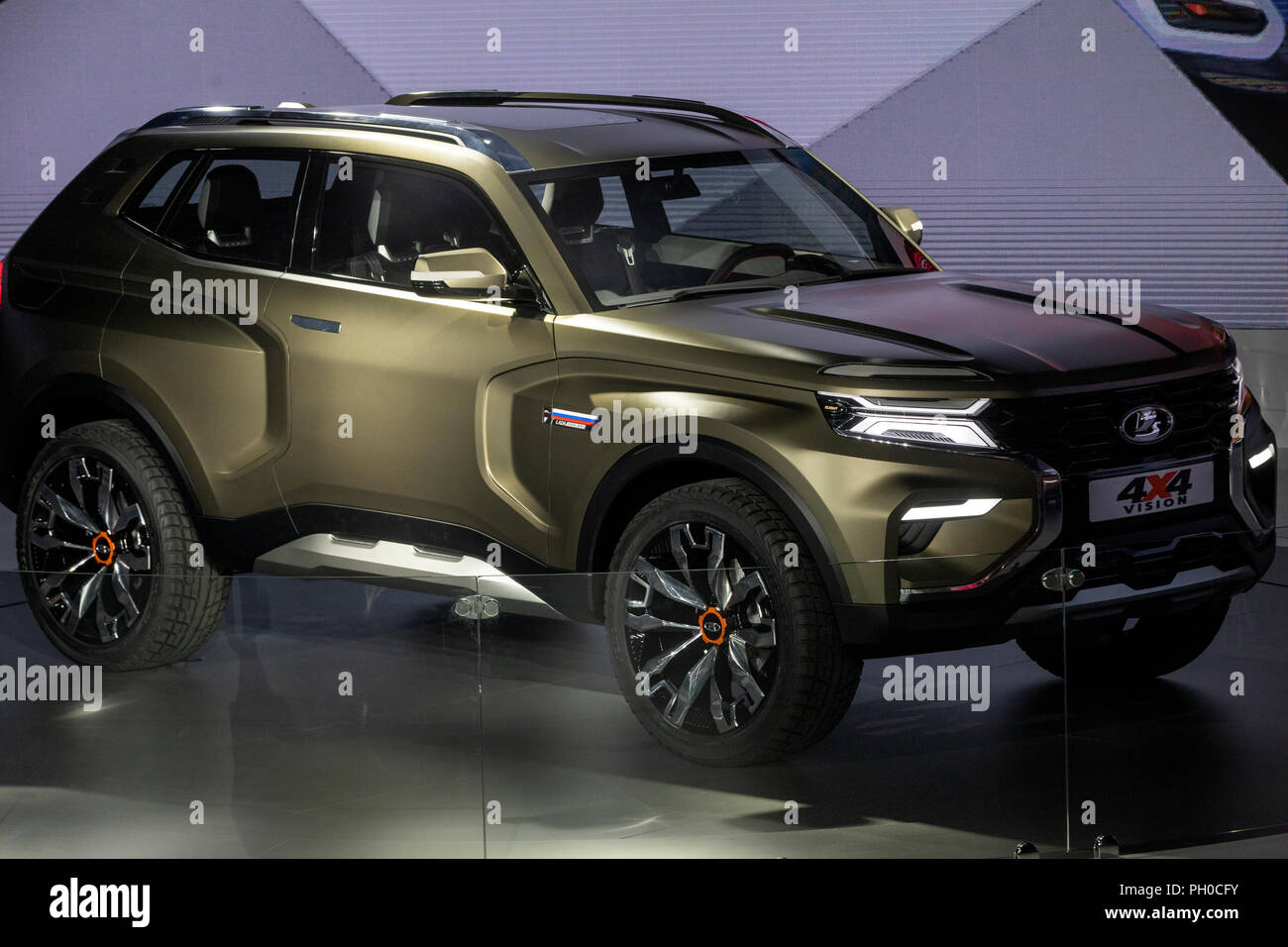 moscow russia 29th august 2018 a concept lada 4x4 vision offroader unveiled at the 2018. Black Bedroom Furniture Sets. Home Design Ideas