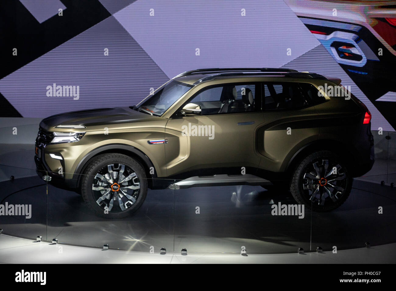 Moscow, Russia. 29th August 2018. A concept Lada 4x4 Vision offroader unveiled at the 2018 Moscow International Motor Show at the Crocus Expo exhibition center Credit: Nikolay Vinokurov/Alamy Live News - Stock Image