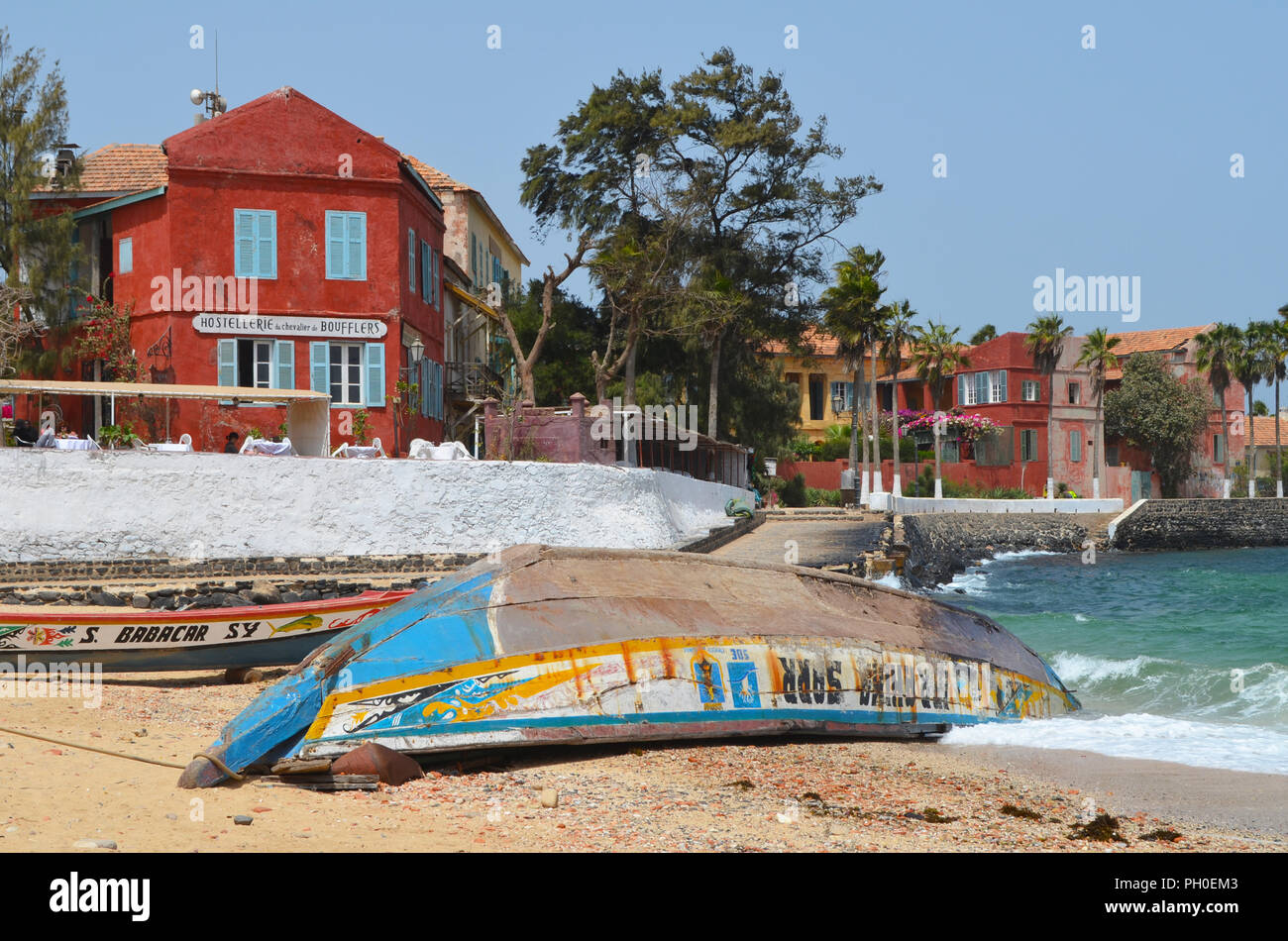 Gorée island, an old slave trading centre, near Dakar, Senegal - Stock Image