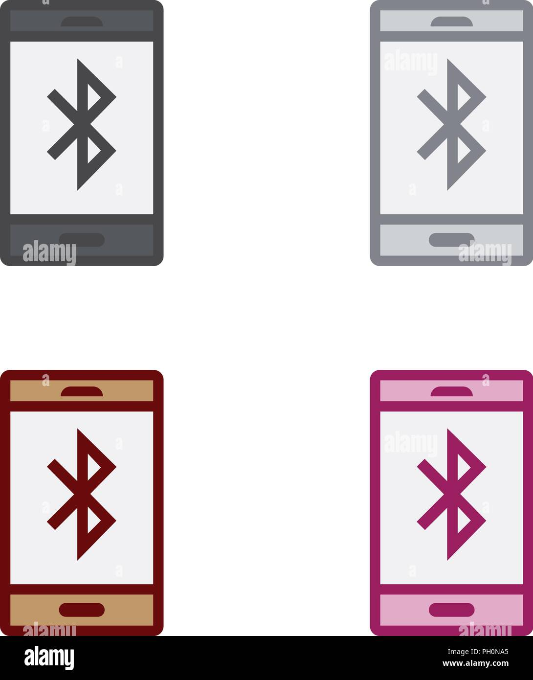 Smartphone Bluetooth Stock Vector Art Illustration Vector Image