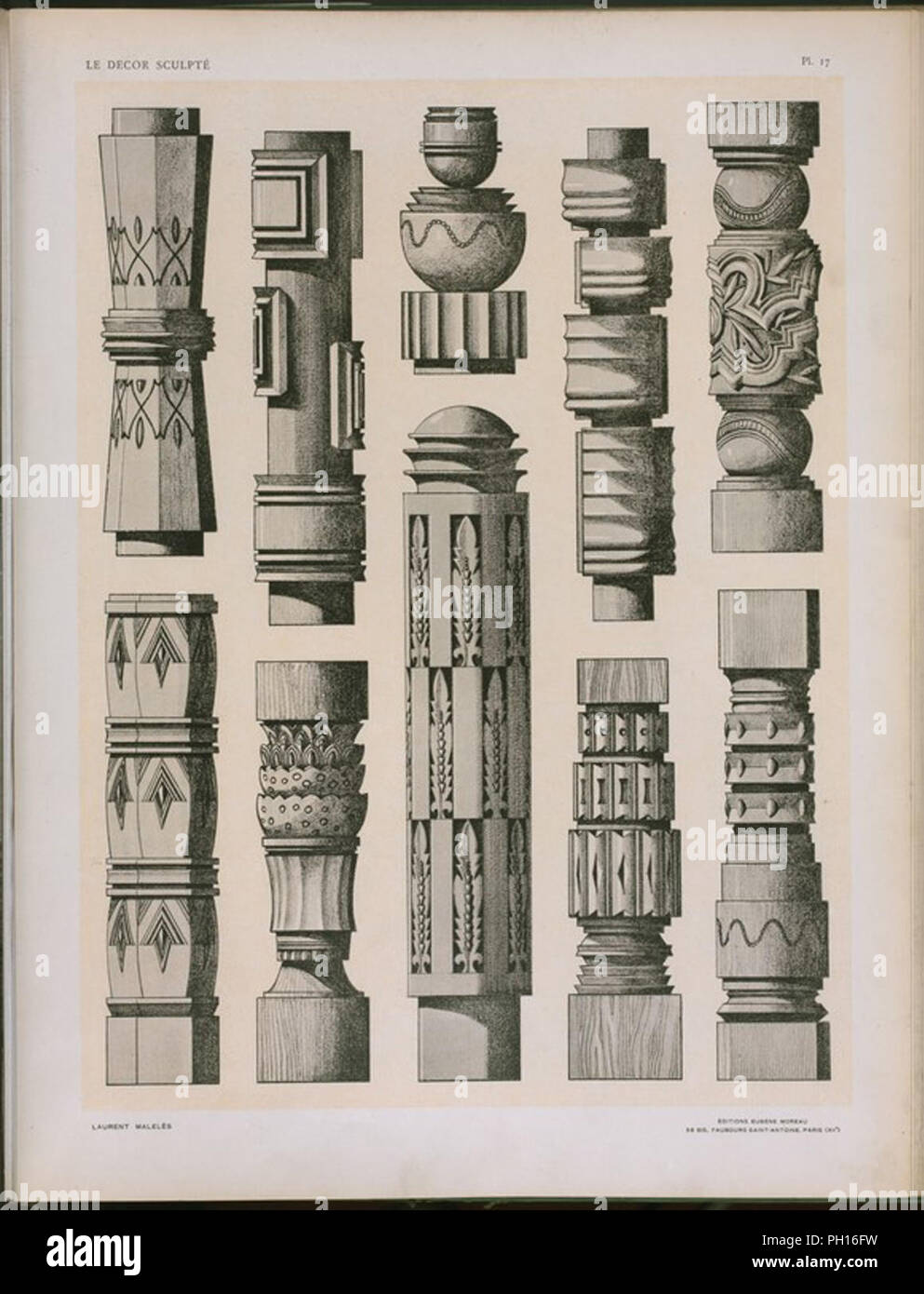 Architectural Mouldings Stock Photos & Architectural