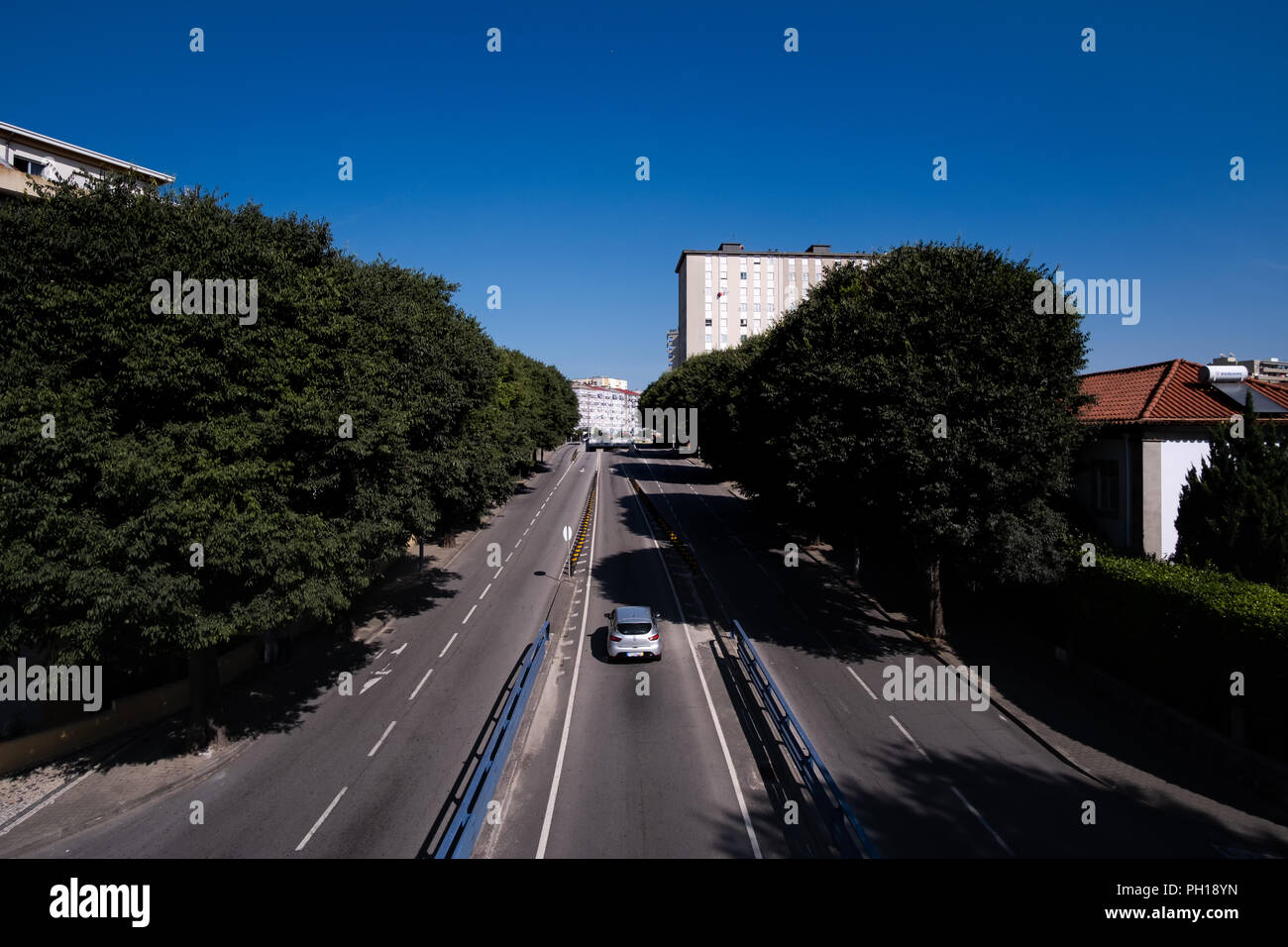 paved highways and avenues of a regular city composing an urban site - Stock Image