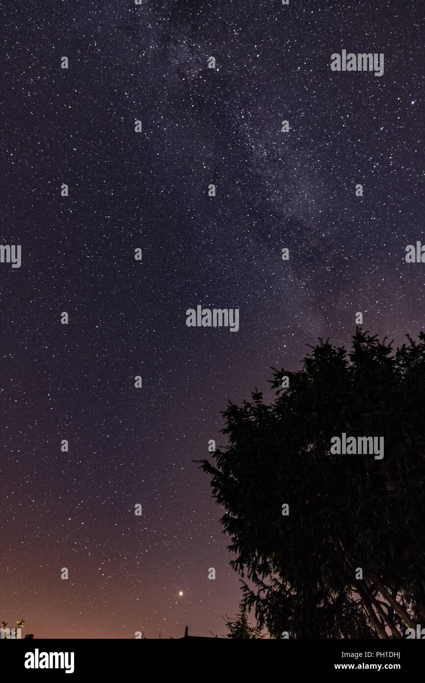 Milkyway galaxy in the night sky - Stock Image