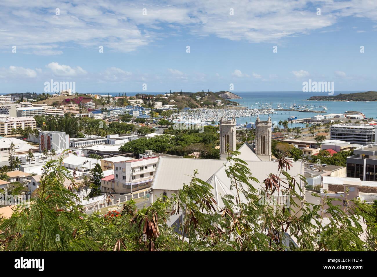 View over Noumea, New Caledonia - Stock Image
