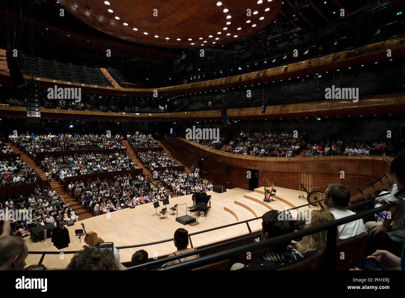 Main concert hall in site of the Polish National Radio Symphony Orchestra in Katowice. Stock Photo