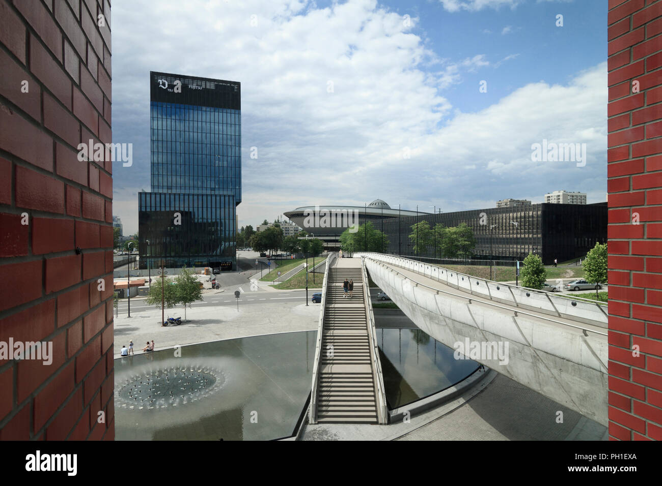 Downtown of Katowice - cultural zone - Stock Image