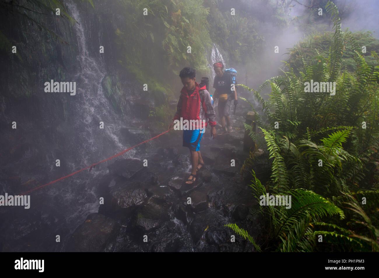 Gede Volcanoes, West Java, Indonesia - Stock Image