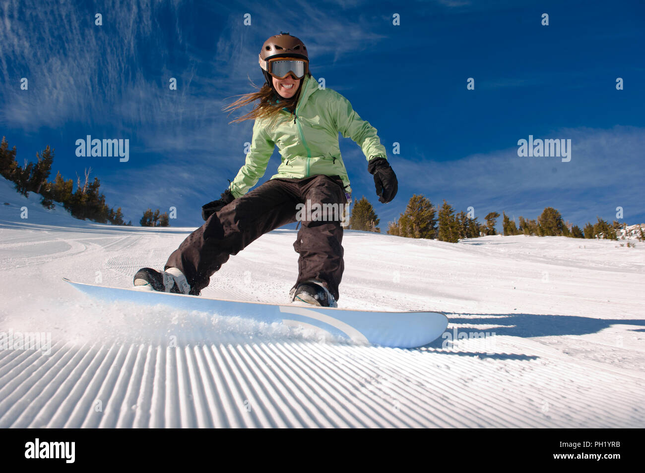 Groomers at Mt. Rose Ski Tahoe - 2012 Stock Photo