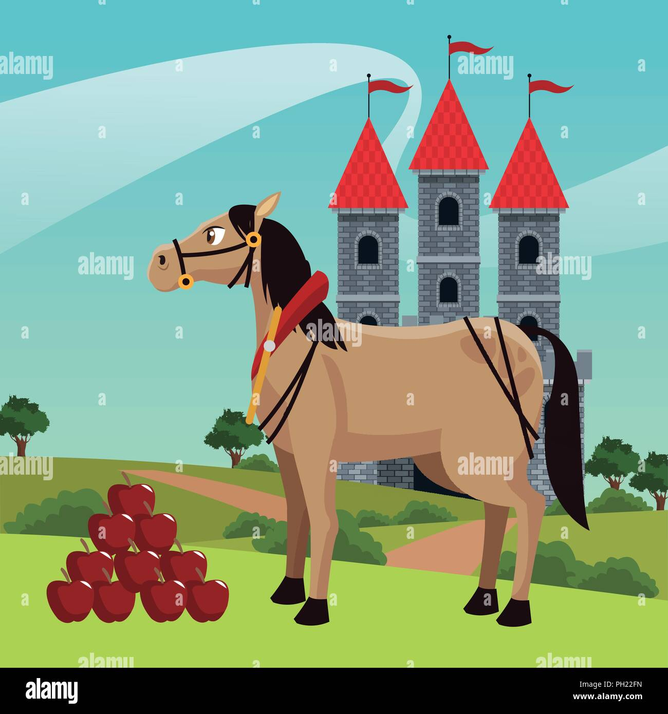 Knight Horse Castle Stock Photos & Knight Horse Castle Stock Images ...
