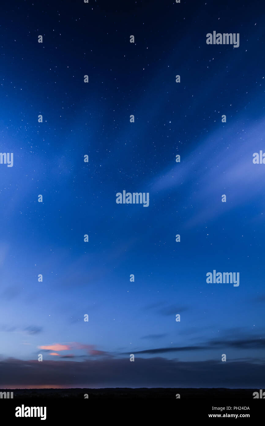 A night of June in Kemeru swamp. Latvia - Stock Image
