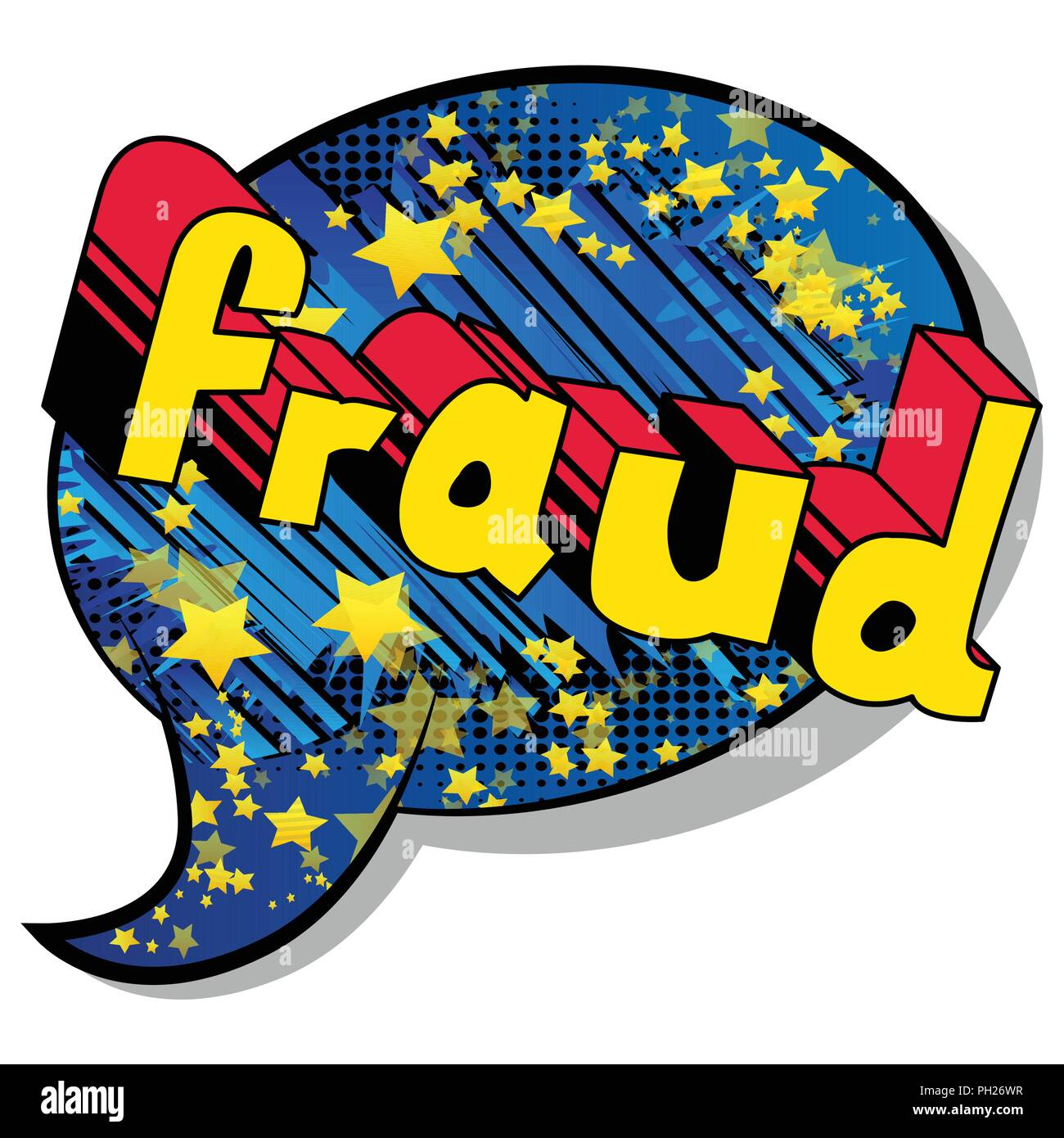 Fraud - Vector illustrated comic book style phrase. - Stock Vector