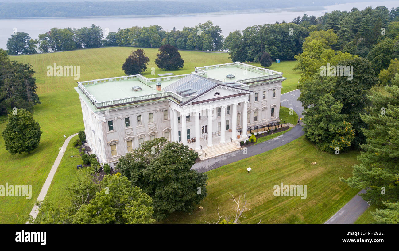 Mills Mansion, Staatsburgh State Historic Site, Hyde Park, New York, USA - Stock Image