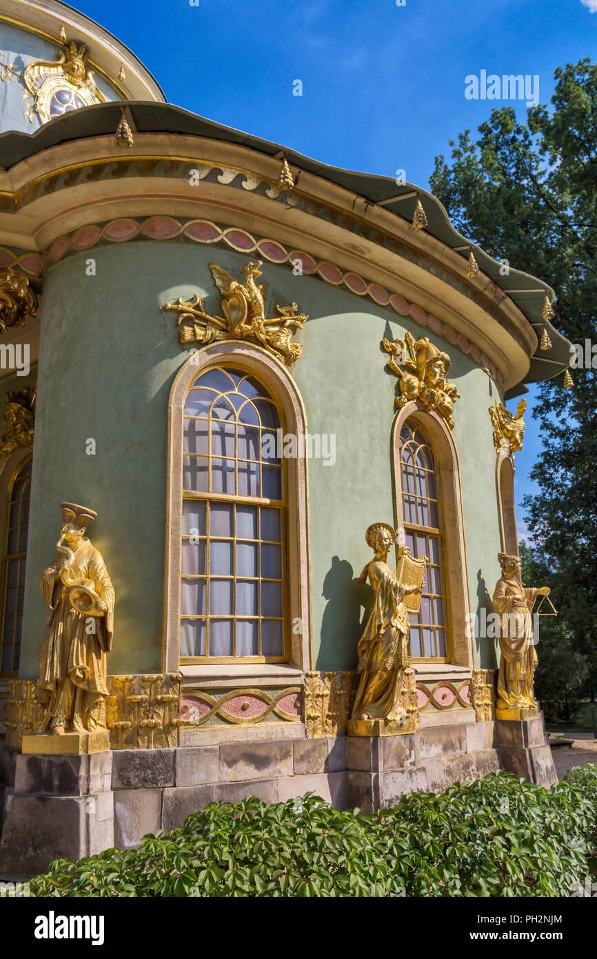 Chinese Teahouse (1764), Sanssouci, Potsdam, Brandenburg, Germany - Stock Image